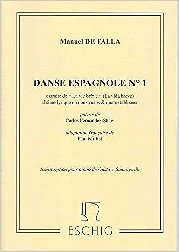 """FALLA - Danza Española nº 1 de """"La Vida Breve"""" para Piano (Samazeuilh/Milliet)"""