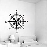 Nautical Compass Removable Vinyl Decal Wall Sticker Mural Kids Room Home Deco...