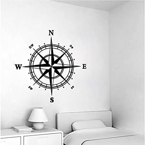 Nautical Compass Removable Vinyl Decal Wall Sticker Mural Kids Room Home  Decor Part 71