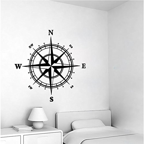 Nautical Compass Removable Vinyl Decal Wall Sticker Mural Kids Room Home Decor Yanoen