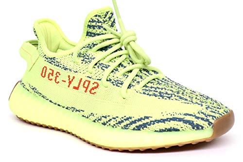 Sneakers V2 350 Yeezy Frozen Giallo Yellow Tessuto Zebra Uomo Adidas CqFwv8CZx