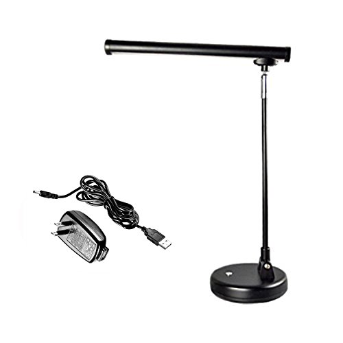 Lamp Piano Grand Adjustable (Upright Piano Lamp,Grand Piano Lamp,LED Piano Lights,LED Desk Lamp,Reading Light, Black with Adapter)