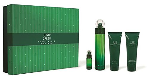 Perry Ellis 360 Green 4 Piece Gift Set Cologne Spray for Men