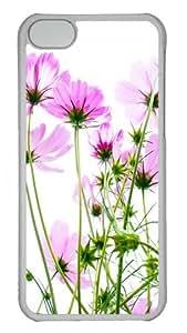 iPhone 5C Case Cover - Pink Cosmos Custom Design PC Case for Apple iPhone 5C - Transparent