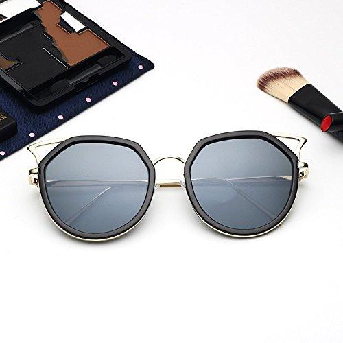 TIANLIANG04 Para Hombres Gafas Black Bastidor Gray Sol Vintage Ojo Oculos Claro Polarizadas De Plata Gato Mujeres De Metálico xqIqrv