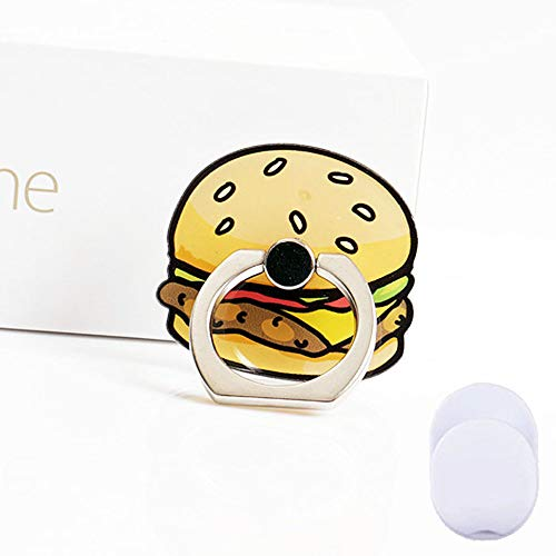 ZOEAST(TM) Phone Ring Grip Sandwich Beef Bread Universal 360° Adjustable Holder Car Hook Stand Stent Mount Kickstand Compatible All iPhones Samsung Android Pad Tablet (Hamburger)]()