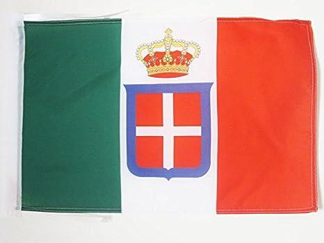 AZ FLAG Bandera del Reino DE Italia Corona 45x30cm - BANDERINA Italiana Real 30 x 45 cm cordeles: Amazon.es: Jardín