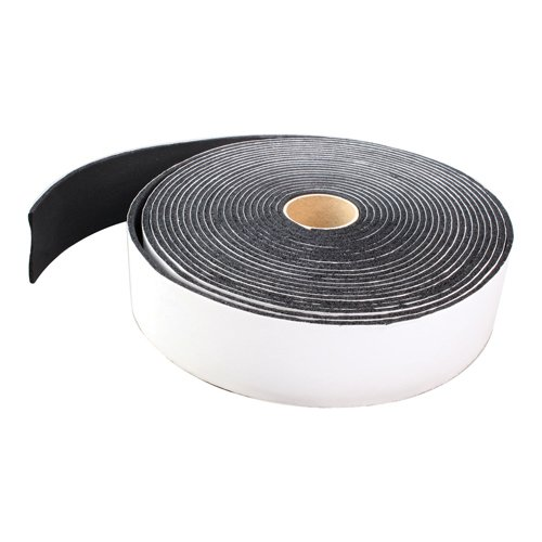 Parker K501 Foam Insulation Tape, 1/8'' Thick, 30' Length x 2'' Width