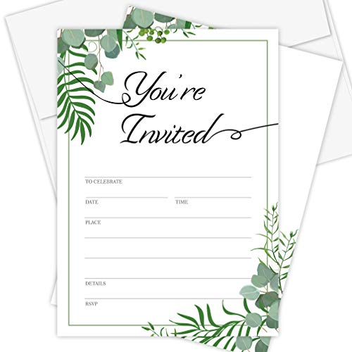 Occasion Any Invitation - Invitation Cards - 25 Pack - Envelopes Included,