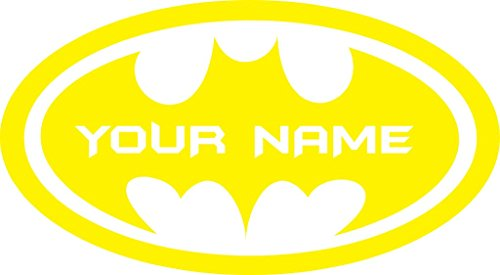 ChicWalls Removable Personalized Batman Logo Custom Name Text Wall Art Decor Decal Vinyl Sticker Mural Superhero Kids Room Nursery 10