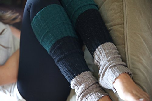 Lucky Love (TM) Striped Multicolor Reversible Knit Leg Warmers by Lucky Love (Image #2)'