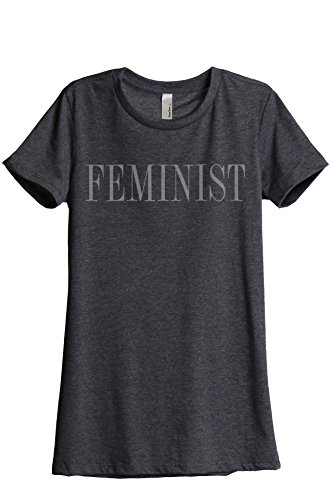 Feminist Feminism Women's Relaxed T-Shirt Tee Charcoal Grey Medium - Feminism T-shirts