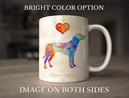 Rhodesian Ridgeback Dog Breed Mug by Dan Morris, Personalize with Dog Name