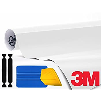 3M 1080 Gloss White Vinyl Wrap Roll Including Toolkit (1ft x 5ft)