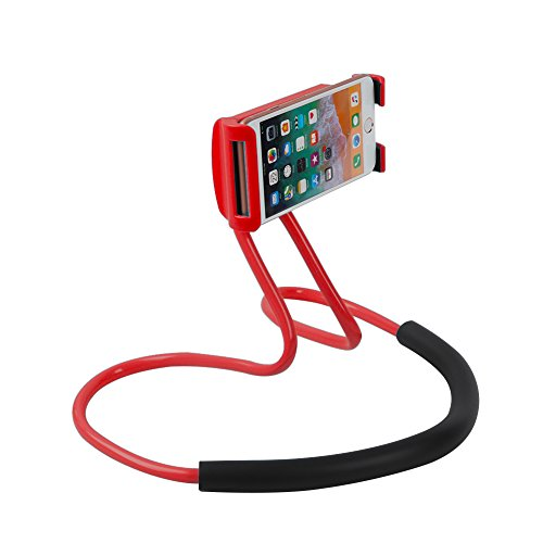 Flexible Cell Phone Holder Expands - Universal Lazy Phone Holder DIY Free Rotating Stand on Table Smart Multiple Functions Mobile Phone Mount Stand Holder Red …
