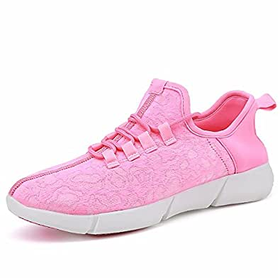 stay real Kids Women Men Fiber Optic LED Light up Shoes USB Charging Flashing Sneakers Christmas Party Led Shoes