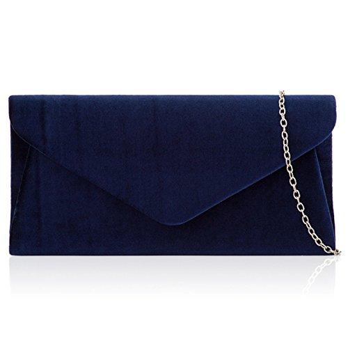 Bag Evening Velvet Shoulder Handbags London Navy Envelope Bridal Ladies New Women Xardi Clutch Velvet x1qTwOn