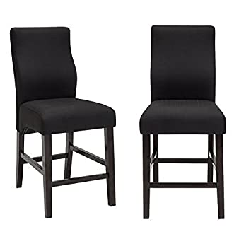 24 Inch Fabric Barstools Dining Chairs Counter Height Side Chairs Set Of 2 (24  Inch