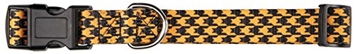 East Side Collection Houndstooth Bat Collar for Pets, 6 to 10-Inch, Orange