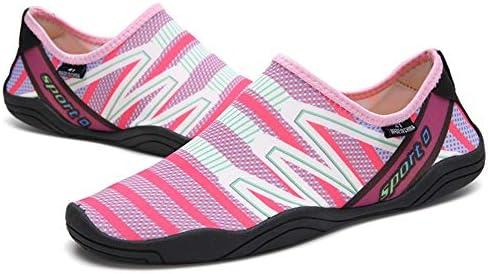 男性と女性のウォーターシューズサーフィンビーチスイミングシュノーケリングや速乾性排水通気性のソフトで軽いカップル上流の川のハイキングアウトドアスポーツやレジャー中立的な靴 ポータブル (色 : Pink, Size : US7)