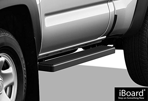 (APS iBoard (Black Powder Coated 6 inches) Running Boards | Nerf Bars | Side Steps | Step Rails for 2005-2019 Toyota Tacoma Standard Cab Pickup 2-Door)