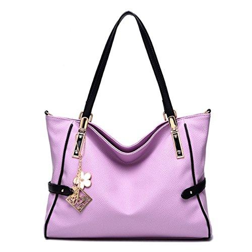 hombro hombro de bolso las mujeres de de Bolso Hobo Bolsos Bag del Púrpura Messenger zpAn4Wq