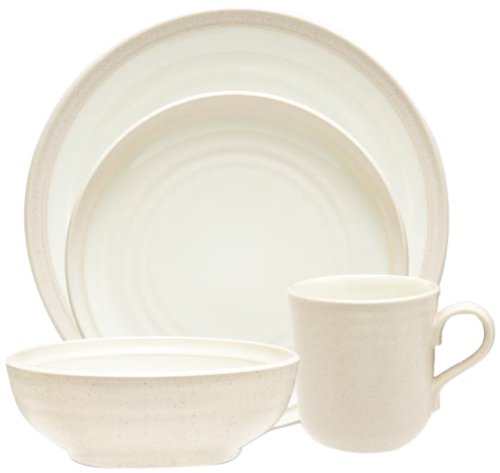 (Noritake 4-Piece Colorvara Place Setting, White)
