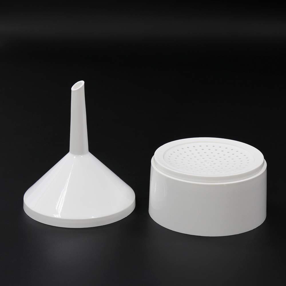 1 Box of Qualitative Filter Paper Plastic Material 2pcs of Buchner funnels Medium Speed ULAB Scientific Buchner Two-Piece Funnel Set UGF1007 Dia.90mm Dia 105mm