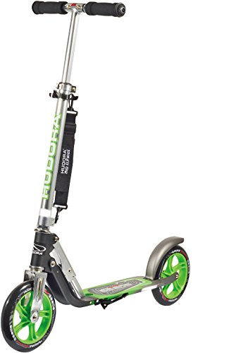 Hudora 14695 Kick Scooters for Adults & Children Aged 10+, 2 Big PU wheels 205 mm, Easily Fold & Carry - Kick Scooters Adults