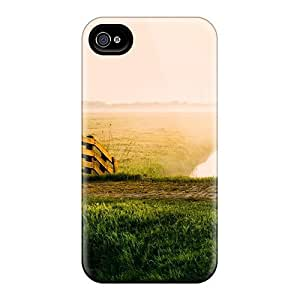 Case Cover Early Morning On Sheep Meadow Creek/ Fashionable Case For Iphone 4/4s
