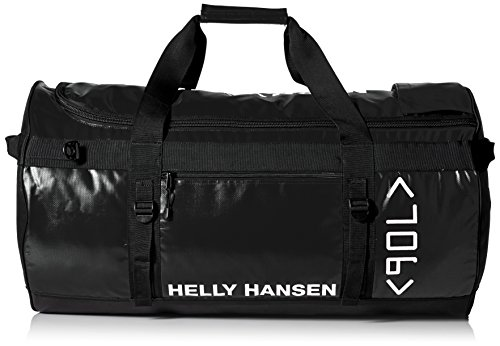 Helly Hansen Classic Duffel Bag with Backpack Straps, 990 Black, 90-Liter (X-Large)