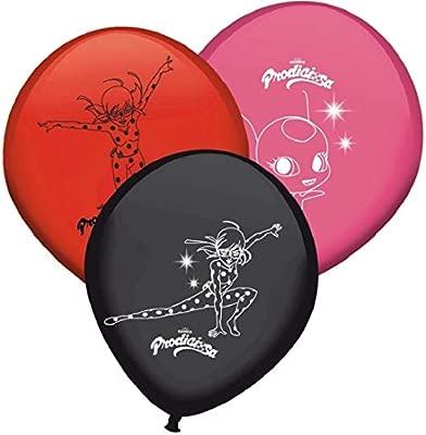 Miraculous - Globos de cumpleaños Ladybug - Set de 8 colores ...