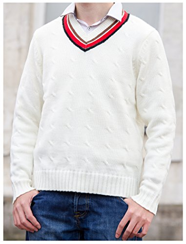 Medium Fifth Doctor (Peter Davison) Sweater - Doctor Who Cricket Jumper (H And M Fancy Dress)