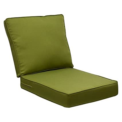 Bon Outdoor Patio Belmont Green Solid Seat U0026#38; Back Replacement Cushion Set  For Club