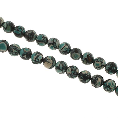 Imperial Jaspis Perlen Weiß Grau 8mm Kugel Strang Edelsteine Natursteine G23
