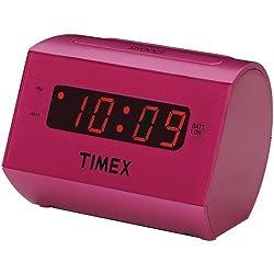 Timex T126 Large Display LED Alarm Clock (Pink)