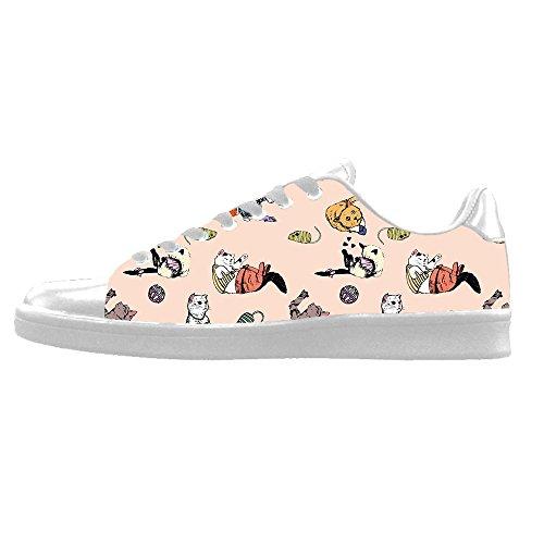 Tela Custom Alto I Le Scarpe Canvas Gatto Del Di Delle Lacci Fumetto Men's Ginnastica Sopra In Shoes Da qwcqTWPrO