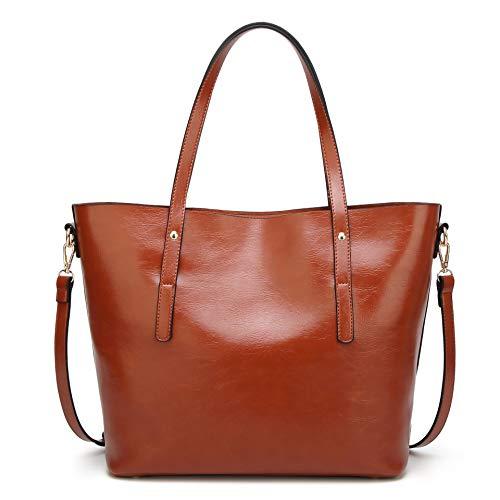 Shoulder Women Satchel Handbags Leather 1 Handle Crossbody Handbag Bag Work Brown Bag Bags Bag Tote Designer Purse Top Large zzwqx8SRr