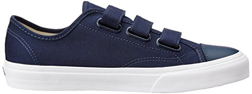Vans Unisex Schuhe Stil 23 V (Canvas) Skate Sneakers Kleid Blau / True White