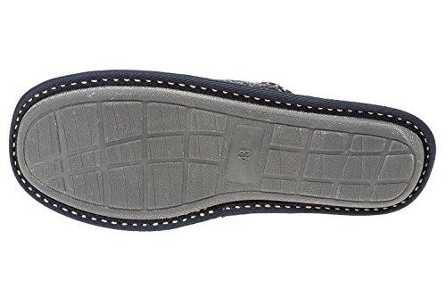 GIBRA® Herren Pantoffeln, Art. 4816, sehr leicht, dunkelblau, Gr. 40-45 Dunkelblau