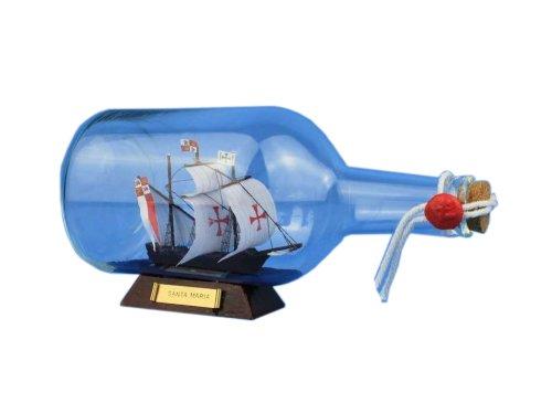 Hampton Nautical  Santa Maria Ship in a Bottle, 9