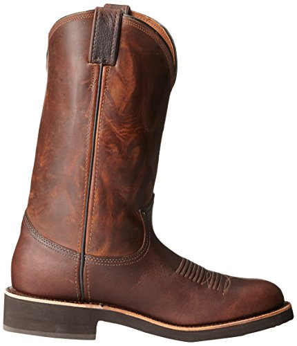 Chippewa Hombres 12 Punta Redonda 29321 Pull On Bota Brown