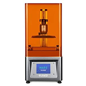 """ELEGOO Mars UV Photocuring LCD 3D Printer with 3.5'' Smart Touch Color Screen Off-line Print 4.72""""(L) x 2.68""""(W) x 6.1""""(H) Printing Size from ELEGOO"""