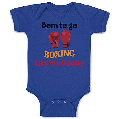 Custom Baby Bodysuit Born to Go Boxing Like My Daddy Boxer Dad Father