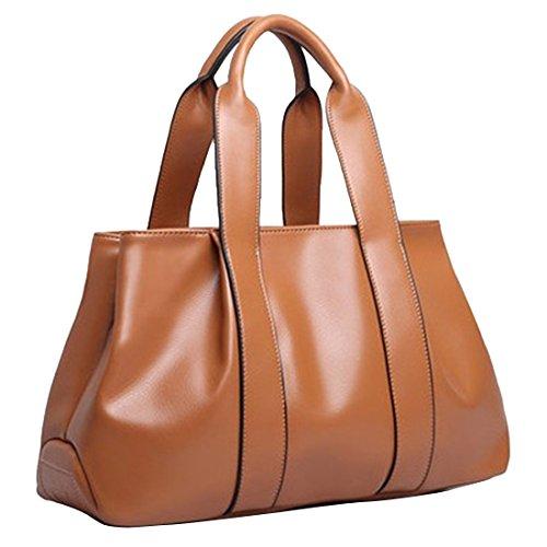 YYW Leather Handbags - Bolso mochila  para mujer marrón