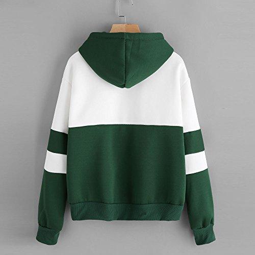 Lunga Cactus Ragazza Tops Manica Donna Verde Camicia Sweatshirt Pullover Yusealia Stampa Cappuccio Felpa Con Di Camicetta wUP0RP