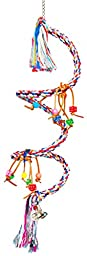 Bonka Bird Toys 1961 Large Charm Rope Boing Coil Swing Bird Toy parrot cage toys cages Amazon