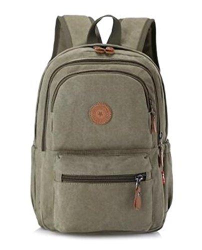 Viaje mochila pequeña multifunción hombres ms al aire libre ocio viajes paquete juventud Wild bolsa de lona, azul caqui
