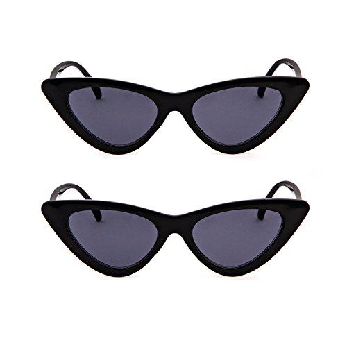 protección de Kurt 1 Gafas gato mujeres niñas 2 sol vintage retro de Pcs gafas sol Cobain de Gafas de estilo ADEWU ojo para de Black 8nW08SH
