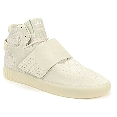 Adidas Mens Tubular Invader Strap Beige Chalk White Shoes BB8943